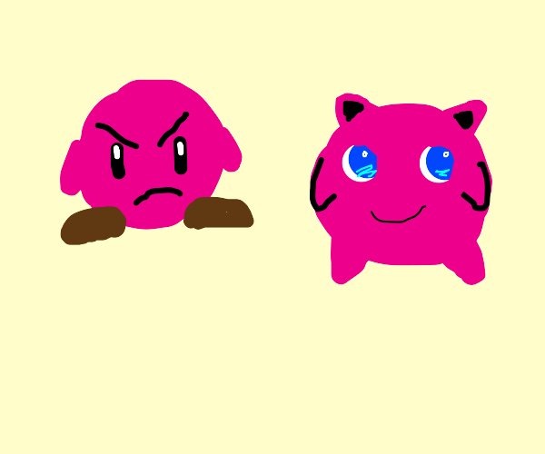 Kirby is pissed at Jigglypuff