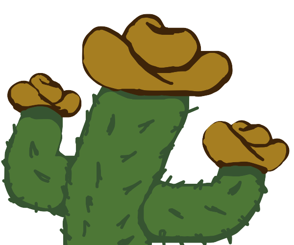 cactus with cowboy hats