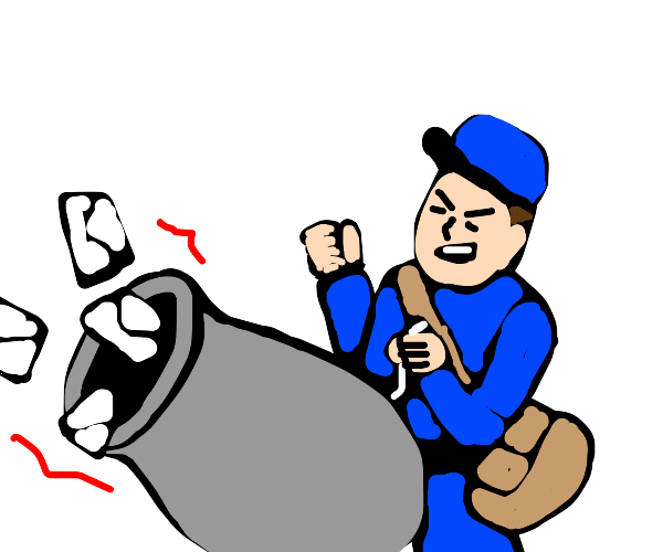 Mail Man Uses a Cannon