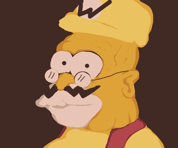Grandpa Simpson is Wario