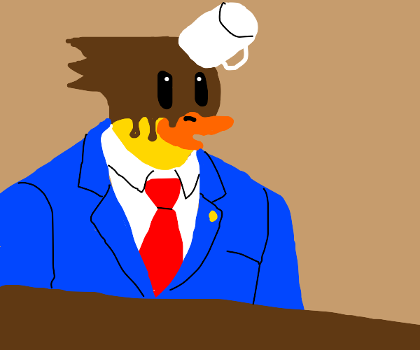 phenoix wright as a duck
