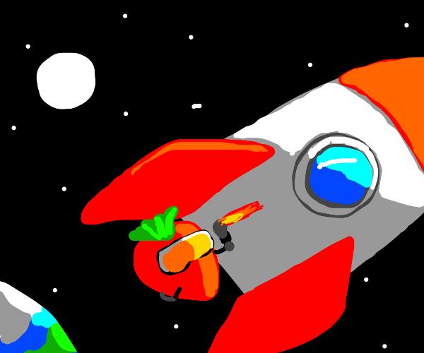 strawberry finishes rocketship repair