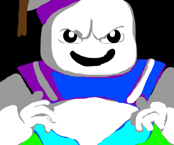 Stay Puft man on top of Earth