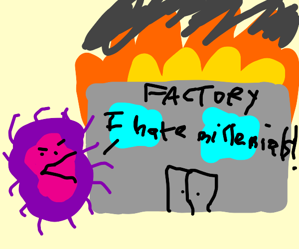boomer germ sets a factory on fire