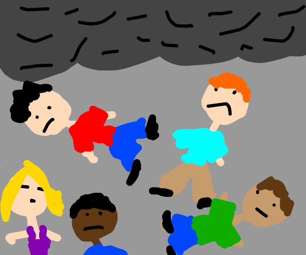 Oh no! It's raining humans