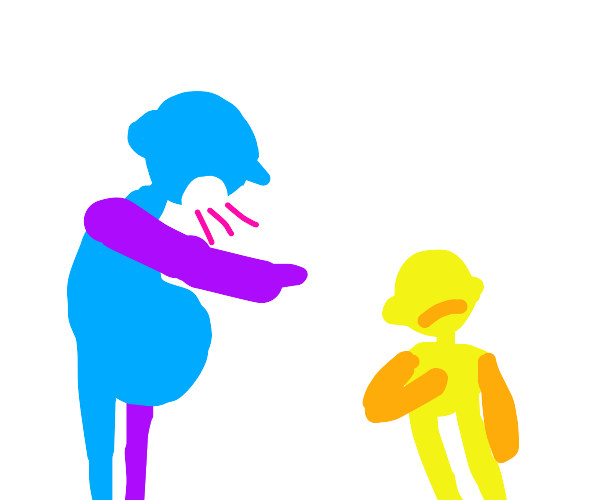 Man shouting to a child