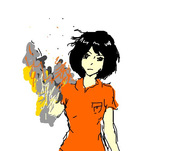 Girl gets vaporized