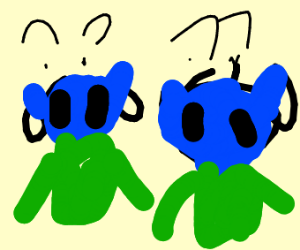 Two smurfs are very confused