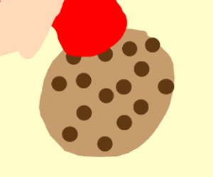 Licking cookie