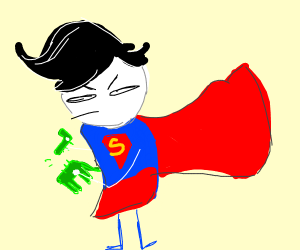 Superman breaking a toy