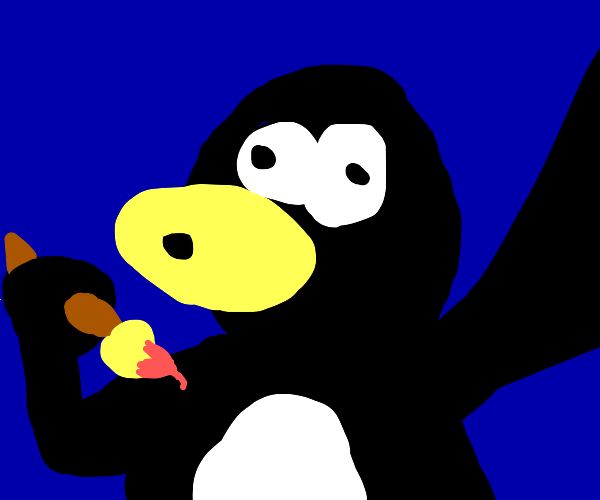 Tux paint penguin