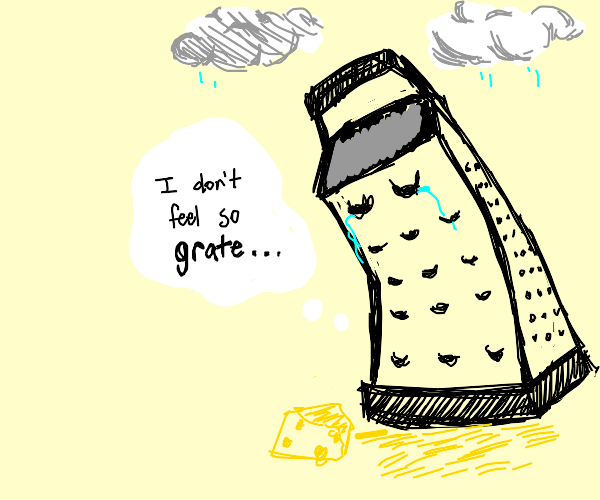 Depressed Cheese Grater
