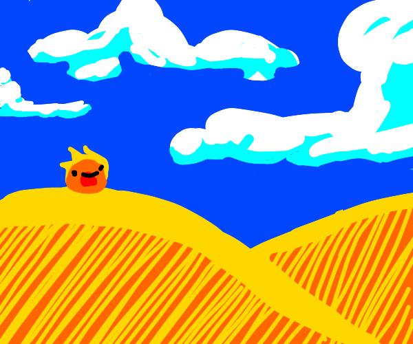 Fire Slime Withstands The Brutal Desert