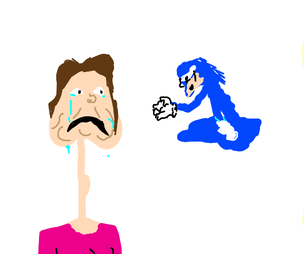 Girl cries as Sonic melts