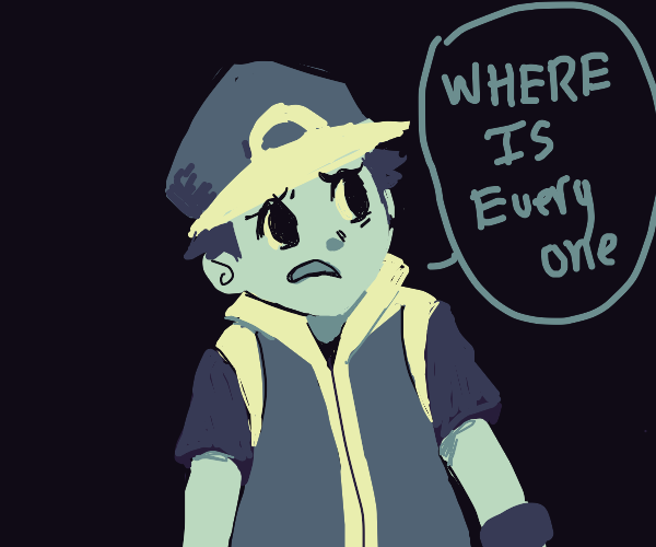Pokemon Trainer notices everyone is missing