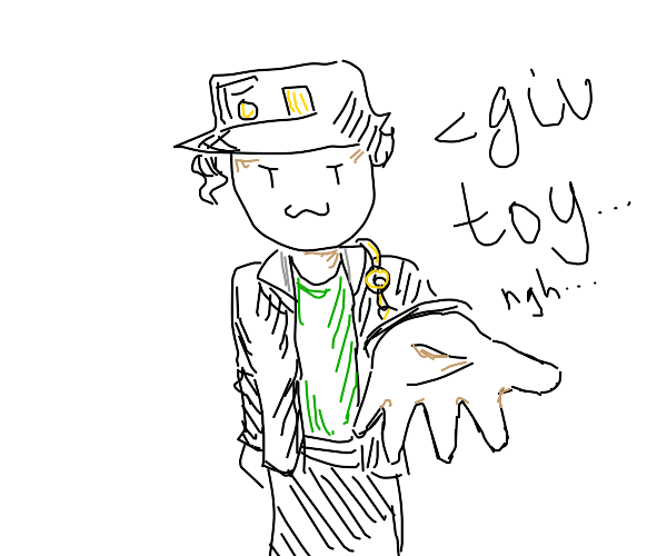 Minimalistic jotaro wants your toy... ngh