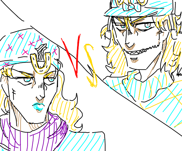 Diego brando vs the protagonist of his part