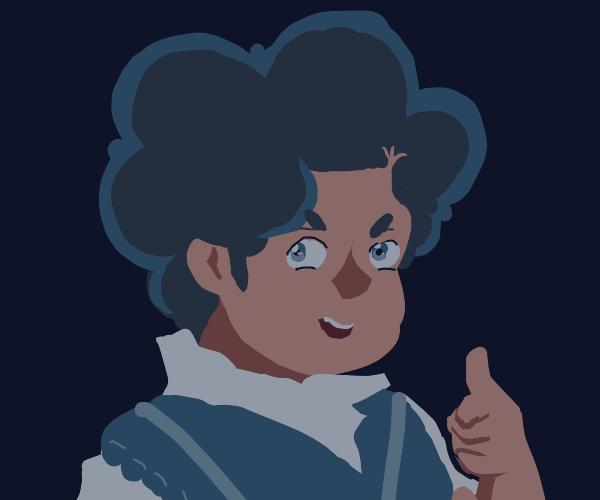 Blue haired steven