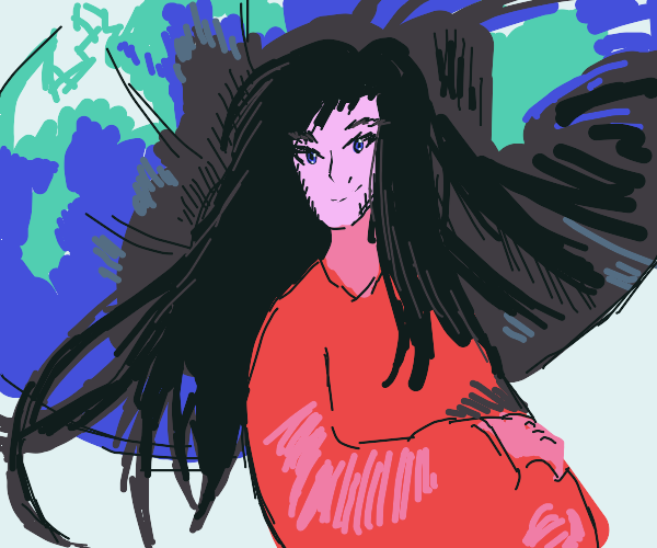 Red anime girl ?
