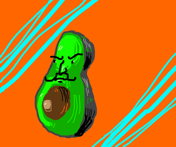big half Avocado character.