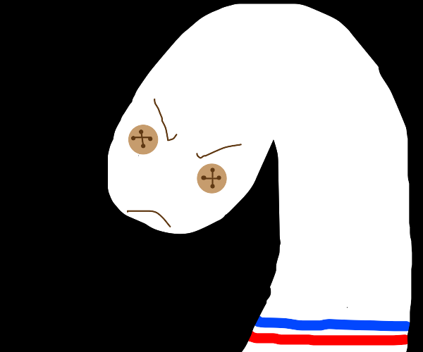 Angry sock puppet