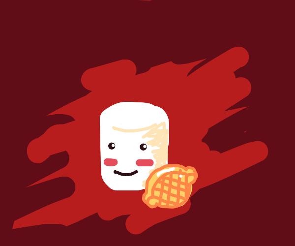 Kawaii Marshmallow with a Lemon Candy