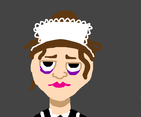 tired waitress maid person