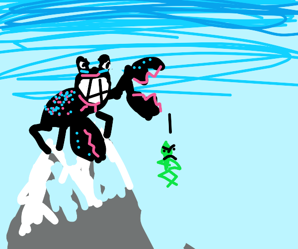 colrful crabs throw the grinch off a mountain