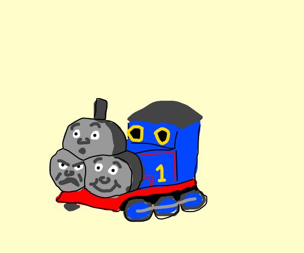 schizophrenic thomas the train
