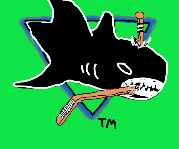 Old San Jose Sharks logo