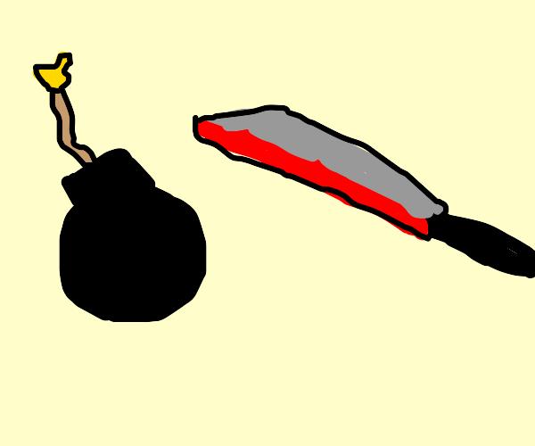 Bomb vs 1000-Degree Knife