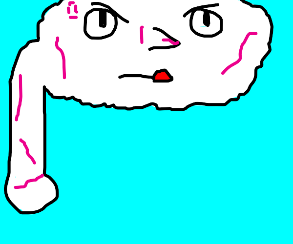 very veiny cloud-person with an arm