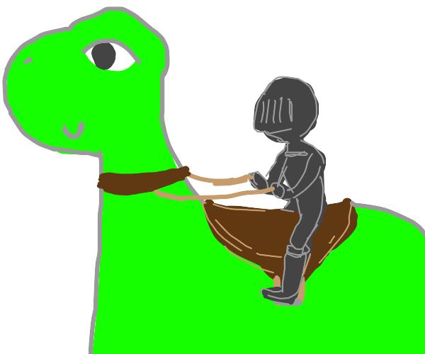 Soldier & His Dinosaur