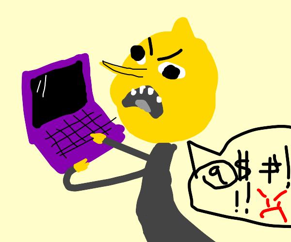 Lemongrab says that computer is unacceptable.