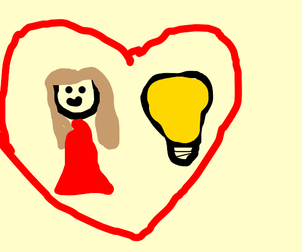 Woman Dating Lightbulb