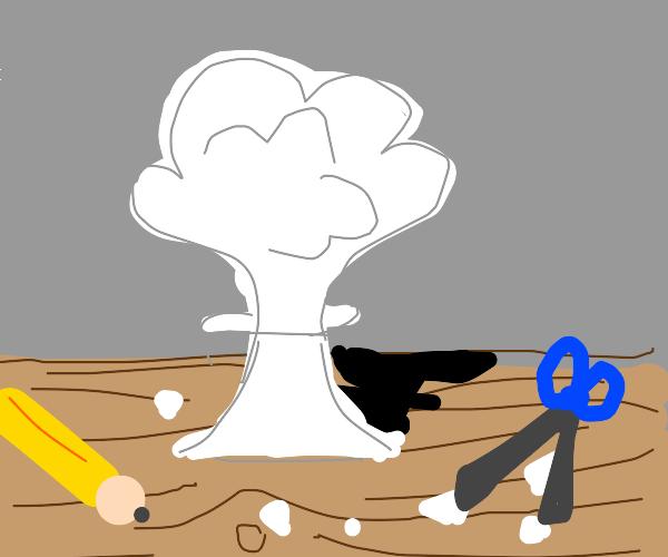Paper Mushroom Cloud