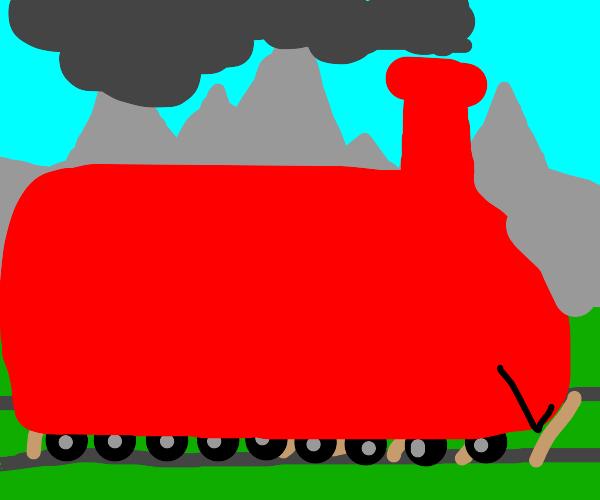 A red train