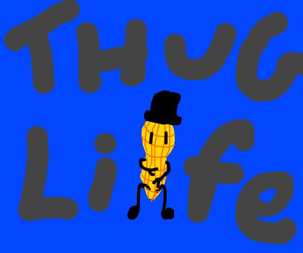 Mr. Peanut being a gangstar