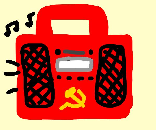 Communism boombox