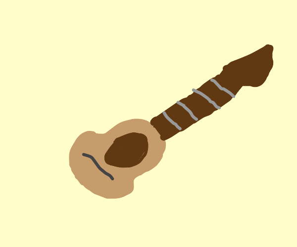 String-less Acoustic Guitar