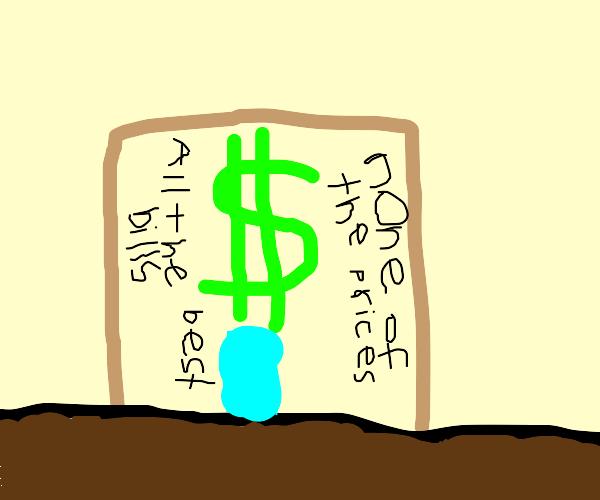 Dollar sign shop