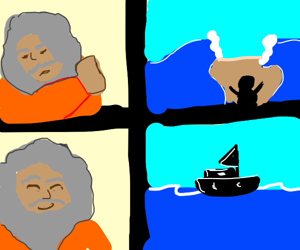 Moses Decided to use a boat instead