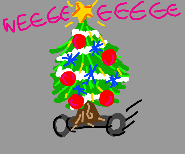 Xmas Trees on Wheels