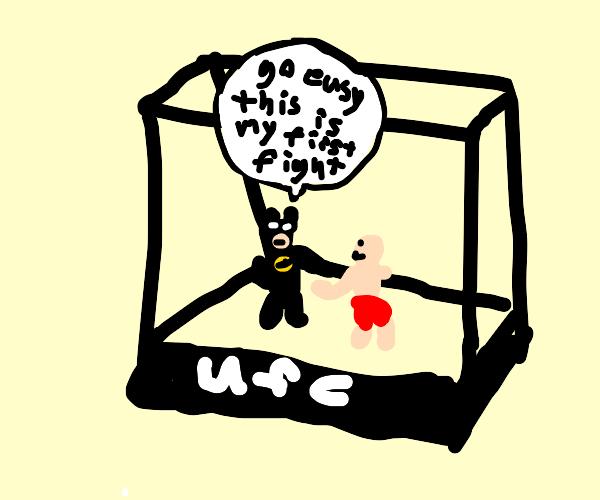Batman participated in a fist fight