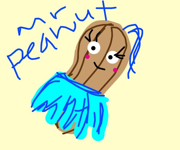 Mr. Peanut cross dressing