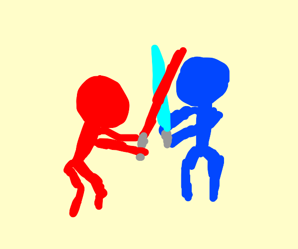 i think this is star wars. stick figure blue?