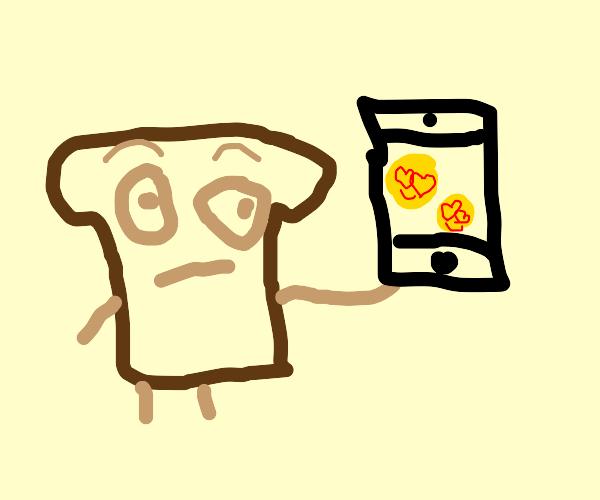 bread being Heart eye emojied 1000 times