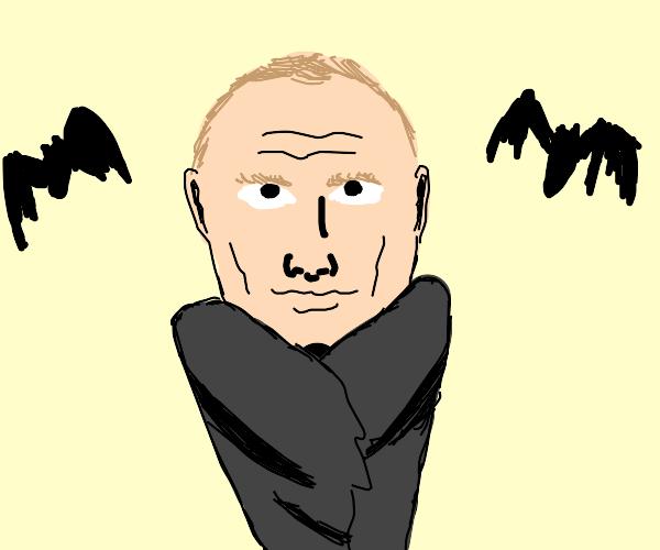 Vladimir Putin as a vampire