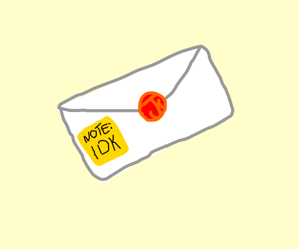 Envelope and sticky note draw