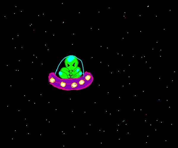 alien has extra small UFO